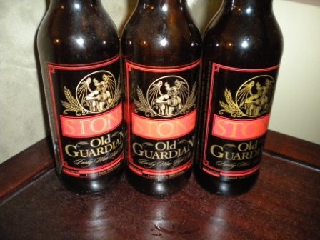 Stone Old Guardian Barley Wine '08, '09 & '10