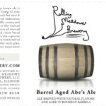 Rolling Meadows Barrel Aged Abe's Ale Label