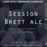 Lake Effect Session Brett Ale Label