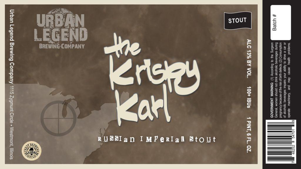 Urban Legend Krispy Karl Russian Imperial Stout RIS Label