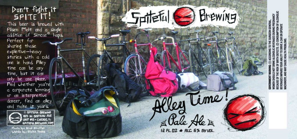Spiteful Brewing Alley Time Pale Ale Label