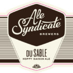 Ale Syndicate du Sable Hoppy Saison Label