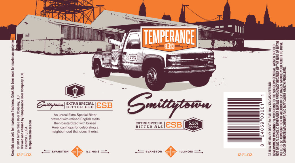 Temperance Smittytown ESB Label