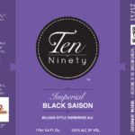 Ten Ninety Brewing Imperial Black Saison Label