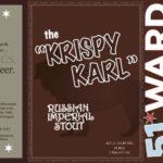 51st Ward Krispy Karl Russian Imperial Stout Label