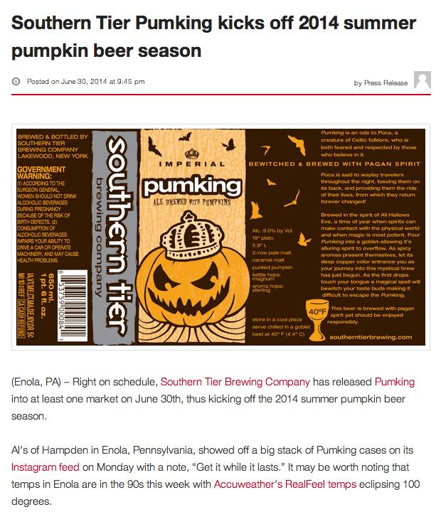 beerpulse pumking 2014