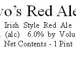 DeNovo's Red Ale No. 1