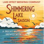 Lake Effect Shimmering Lake Saison Label