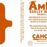 Cahoots Amen Barleywine Barrel Aged Ale Label