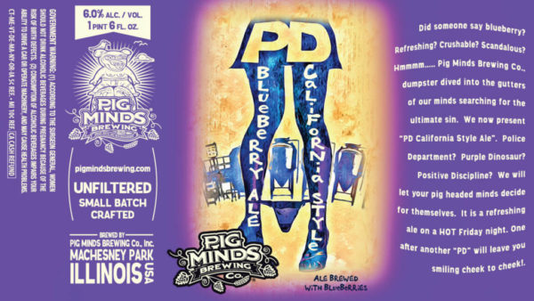 Pig Minds PD Blueberry Ale