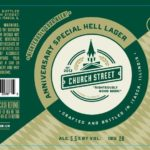 Church Street Anniversary Special Hell Lager Label