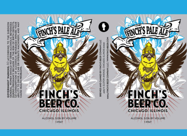 Finch's Pale Ale Label
