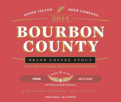 Goose Island Bourbon County Brand Coffee Stout 2014 Label
