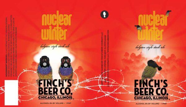 Finch's Nuclear Winter Belgian Dark Ale Label