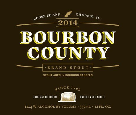 Goose Island Bourbon County Brand Stout 2014 Label