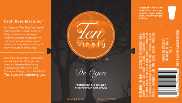 Ten Ninety De Ogen Farmhouse Pumpkin Ale