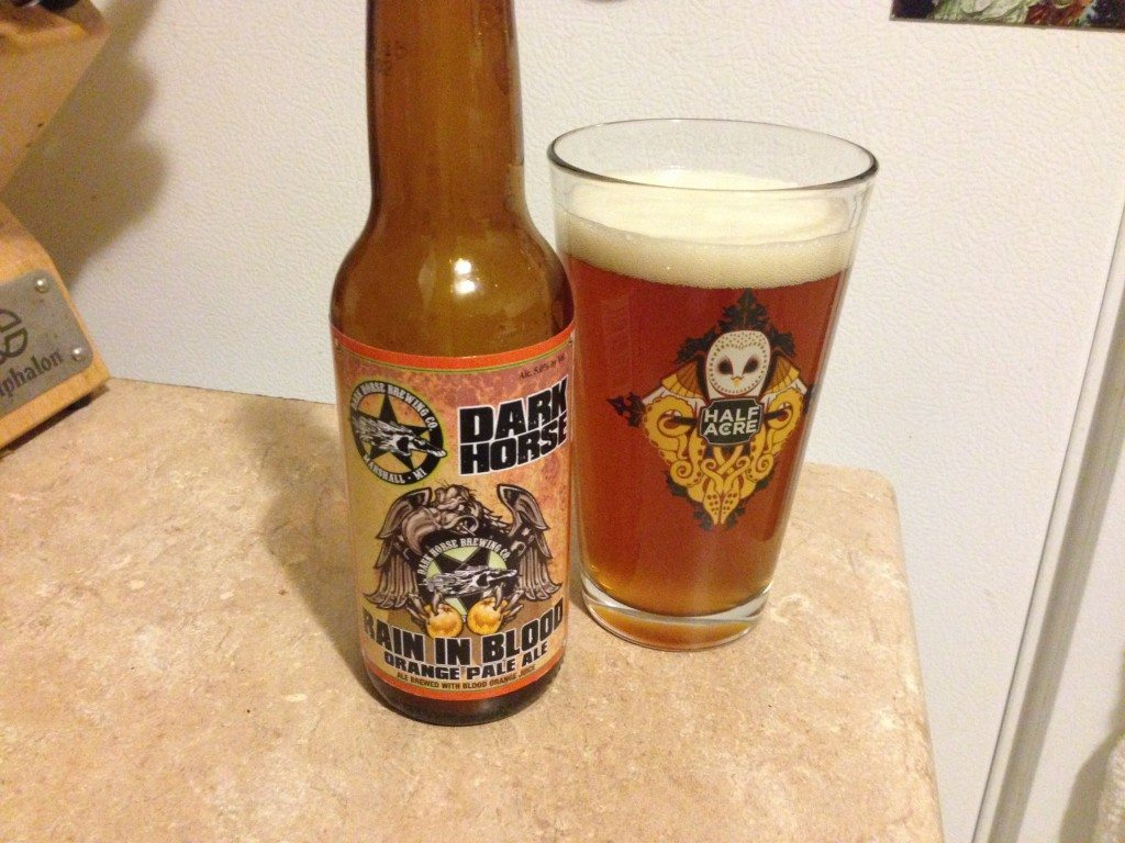 Dark Horse Rain in Blood Orange Pale Ale