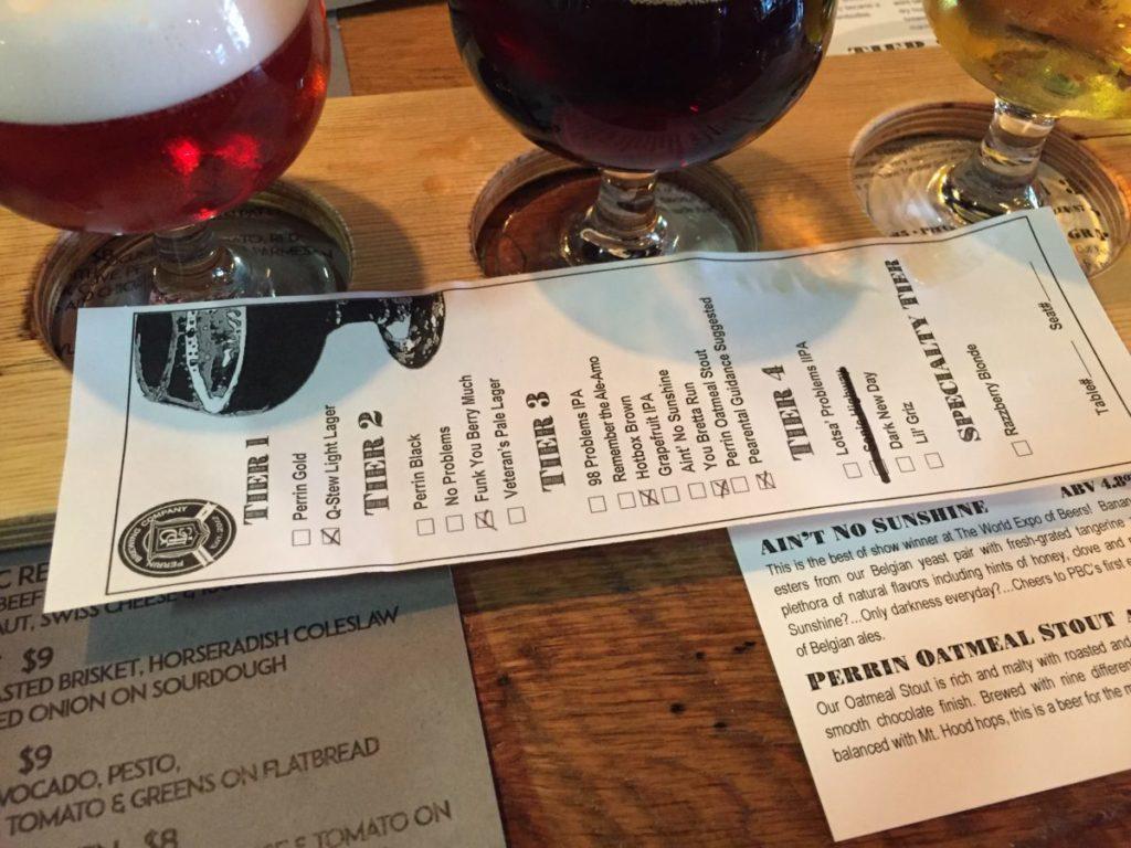perrin beer list