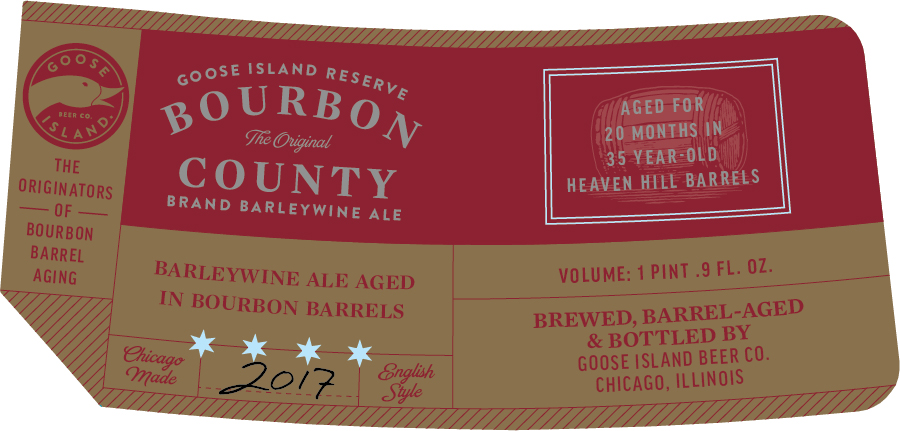 2017 Bourbon County Stout Labels