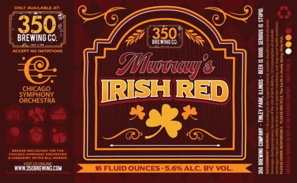 350 brewing Murray's Irish Red label